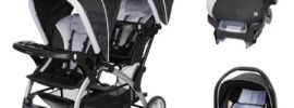 double stroller with car seat